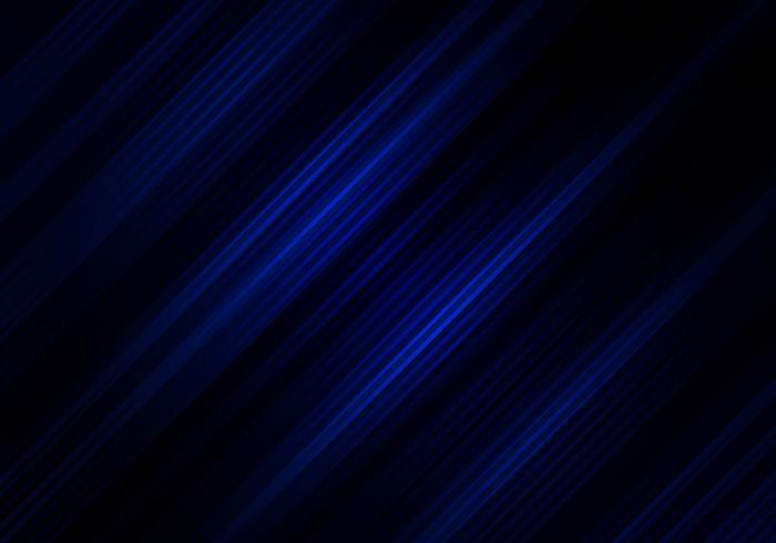 Astratto sfondo di colore nero e blu con strisce diagonali. Motivo geometrico minimale È possibile utilizzare per la progettazione di copertine, brochure, poster, pubblicità, stampa, depliant, ecc. vettore