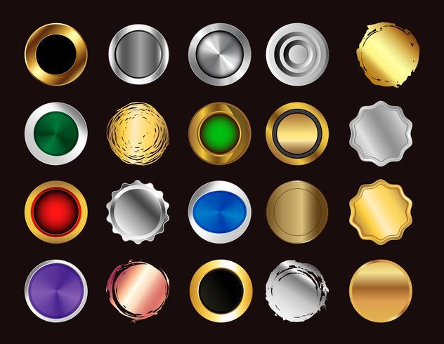 set di pulsanti colorati. raccolta di simboli di icone vettoriali. vettore