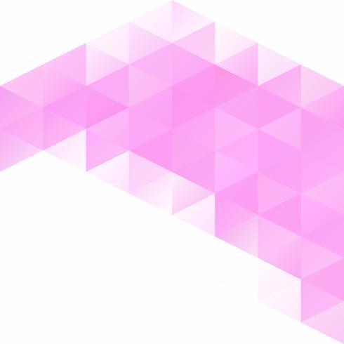 Priorità bassa del mosaico di griglia rosa, modelli di design creativo vettore