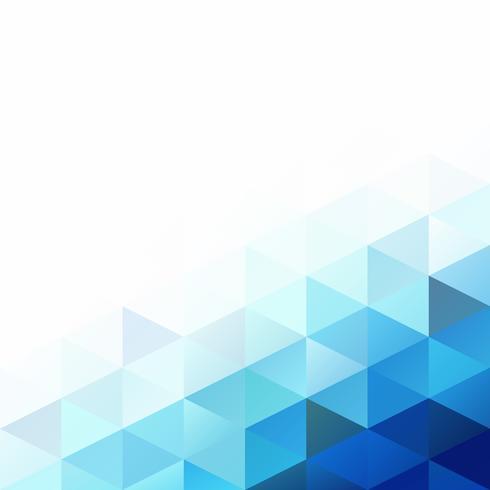 Priorità bassa del mosaico di griglia blu, modelli di design creativo vettore