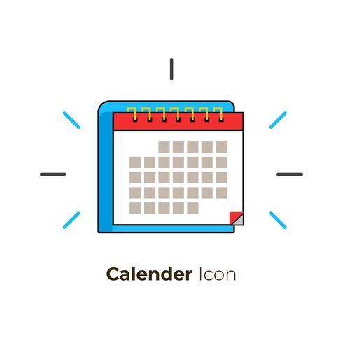 Icona del calendario vettore