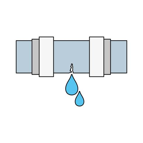 costruzione di attrezzature per riparazione di tubi idraulici vettore