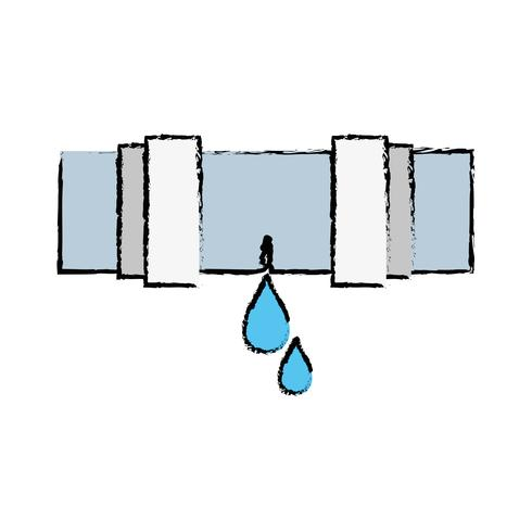 costruzione di attrezzature di riparazione di tubo idraulico doodle vettore