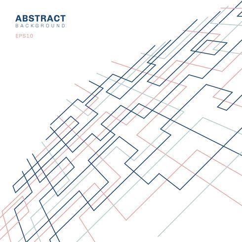 Fondo geometrico sottile lineare di prospettiva di forma e del rettangolo del modello geometrico astratto. Design pulito per carta da parati in tessuto, brochure di copertina, poster, banner web, ecc. vettore