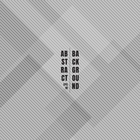 I quadrati geometrici grigi astratti che si sovrappongono con le linee diagonali modellano la struttura e la priorità bassa. vettore