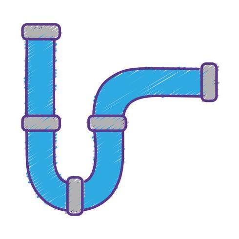 costruzione di attrezzature per riparazione di tubi idraulici grattugiati vettore