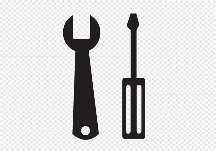 Strumenti icona Segno simbolo vettore