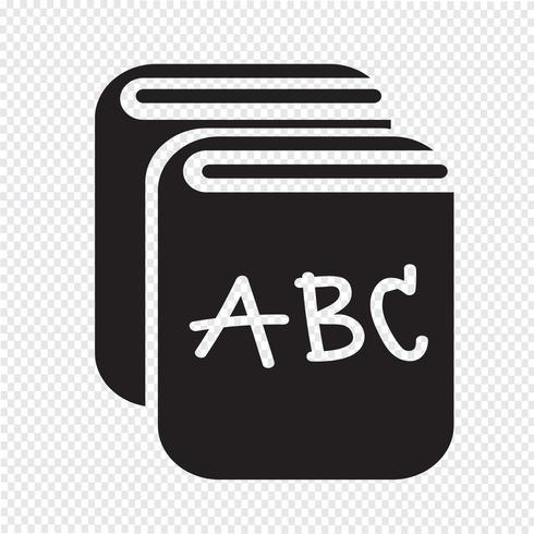 Libro icona simbolo segno vettore