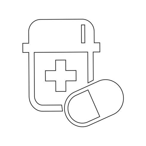 segno di simbolo dell'icona della medicina vettore