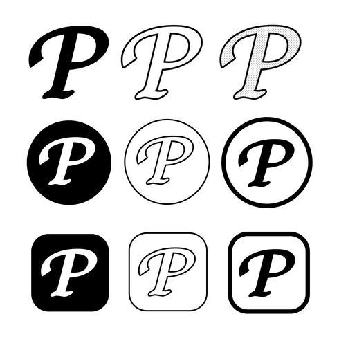 segno di simbolo dell'icona del copyright phonogram vettore