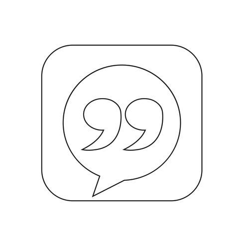 Illustrazione dell'icona del segno di Blockquote vettore