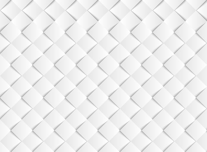 Fondo bianco del modello del taglio della carta del quadrato di vettore di pendenza astratta. illustrazione vettoriale eps10