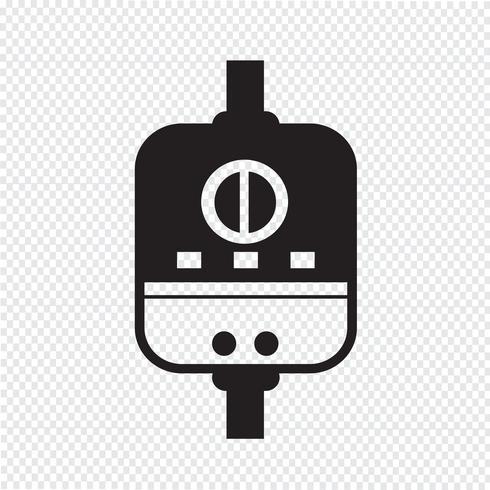 Icona del riscaldatore d'acqua vettore