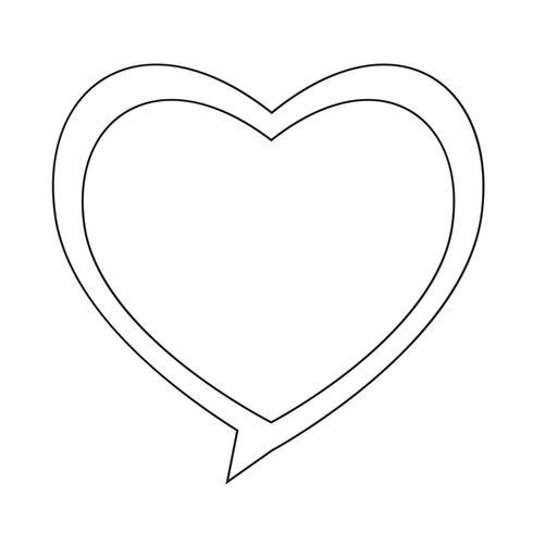 Icona del fumetto cuore vettore