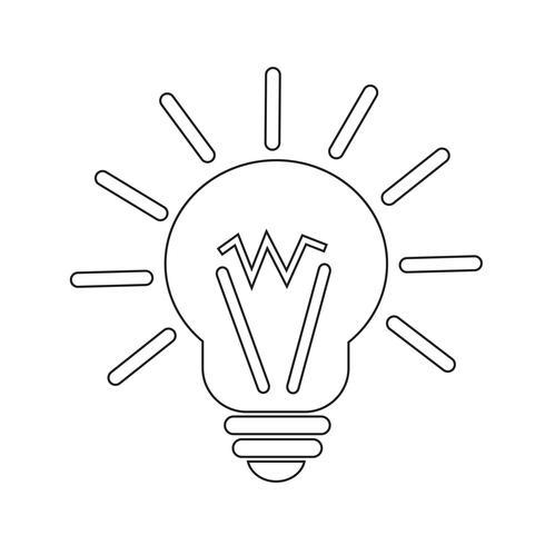 icona idea leggera vettore