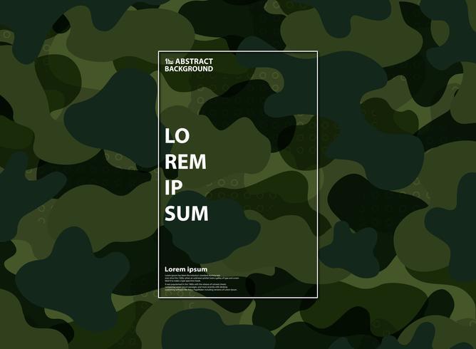 Priorità bassa verde militare astratta del reticolo di figura. Design per l'uso di astrazione, annuncio, poster, opere d'arte, esercito di forza, design moderno. vettore