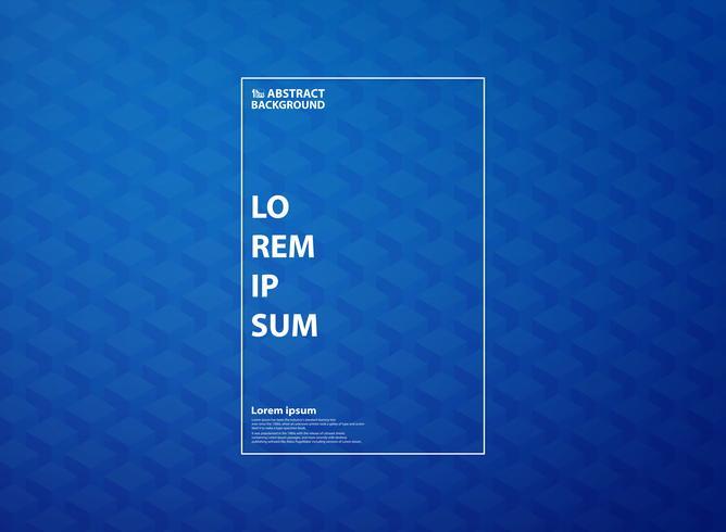 Modello blu astratto del cubo del quadrato di grandi dati del fondo di tecnologia. È possibile utilizzare per opere d'arte di design ad alta tecnologia, pubblicità, copertina, relazione annuale, stampa. vettore