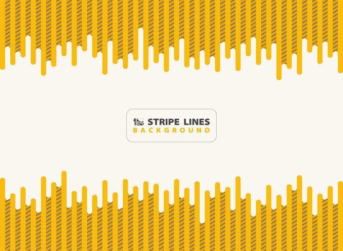 Il giallo astratto del trattino con le linee nere della banda modella il fondo di progettazione moderna. È possibile utilizzare per annuncio, poster, stampa, modello, opuscolo, volantino, opere d'arte. illustrazione vettoriale eps10