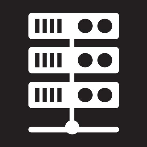 Icona del server del computer vettore