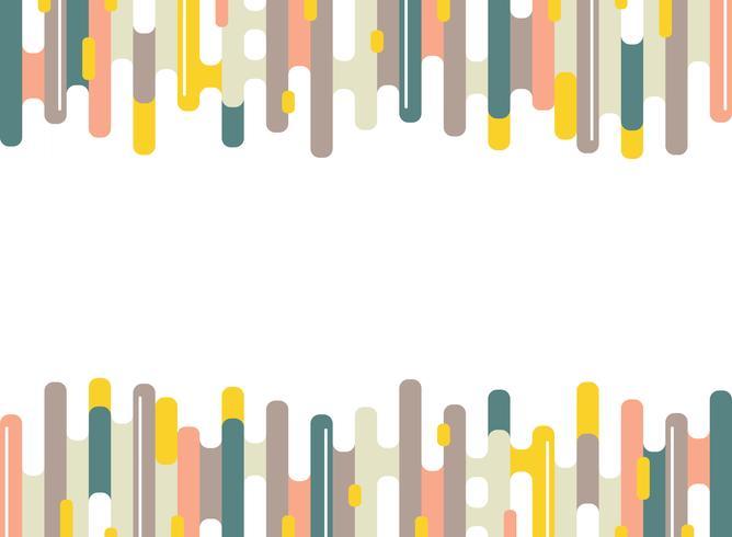 Modello di linee striscia colorata astratta dash di sfondo minimale. Design moderno per opere d'arte, pubblicità, poster, web, libri, stampa. vettore