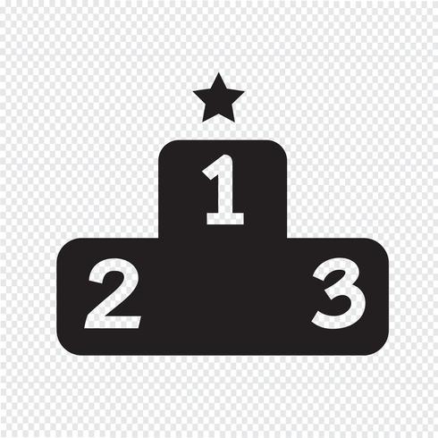 Segno simbolo icona podio vettore