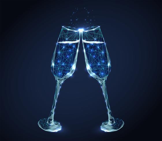 bicchieri di vino tintinnio vettore