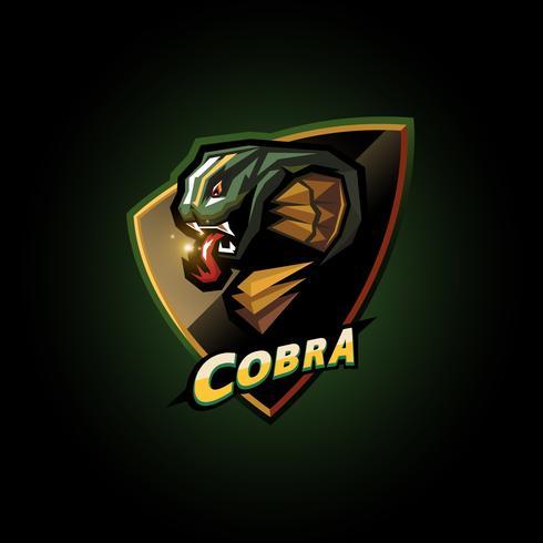 emblema della testa di cobra vettore