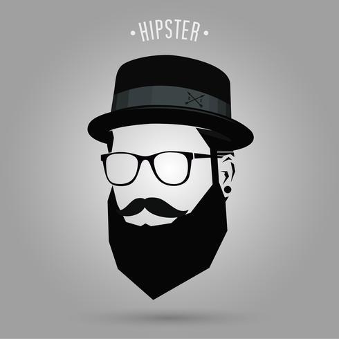 cappello a segno hipster vettore