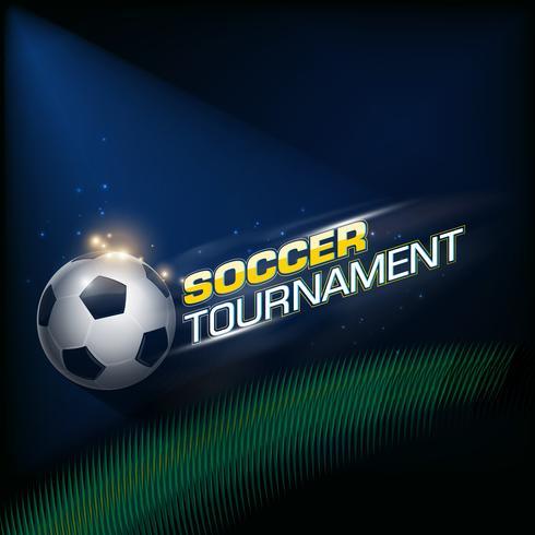 Poster del torneo di calcio vettore