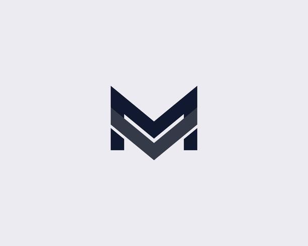 Modello di progettazione di logo semplice lettera M. vettore