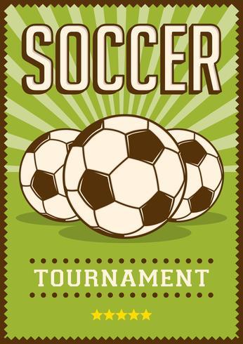 Contrassegno di retro manifesto di arte di schiocco di sport di calcio di calcio vettore