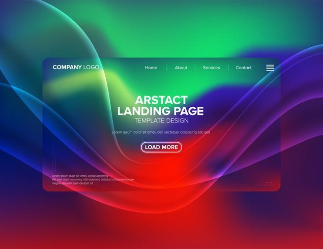 design del modello della pagina di destinazione vettore