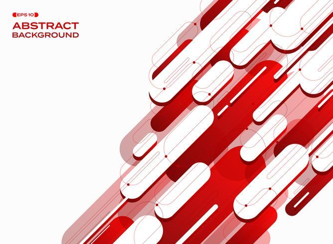 L'estratto delle linee rosse futuristiche di pendenza di tecnologia modella il fondo. vettore