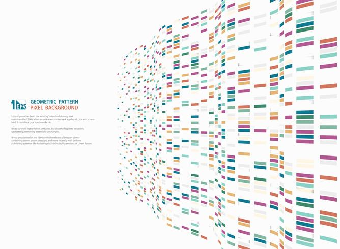 Progettazione geometrica quadrata variopinta moderna astratta del modello della decorazione ondulata della maglia di tecnologia. illustrazione vettoriale eps10