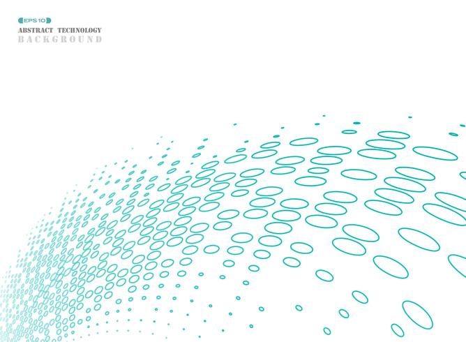 Il semitono astratto del cerchio geometrico di tecnologia blu si collega. vettore