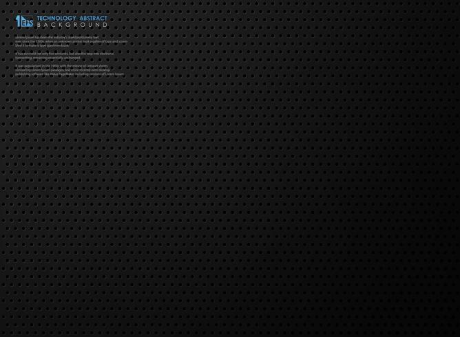Modello in acciaio nero sfumato tecnologia astratta moderna con tecnologia cerchio. illustrazione vettoriale eps10