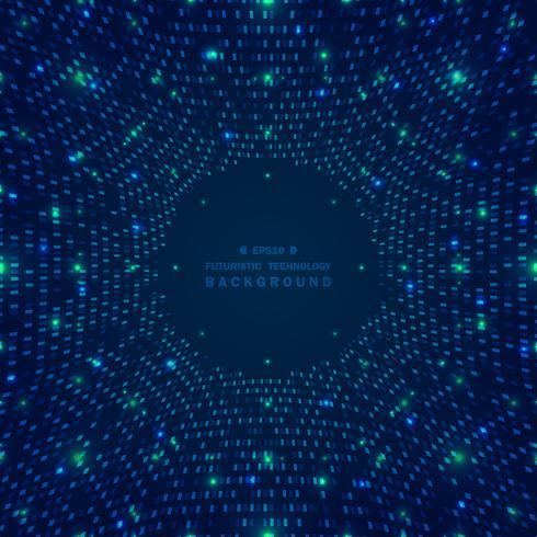 Grandi dati astratti del fondo digitale futuristico della griglia quadrata blu del modello. vettore