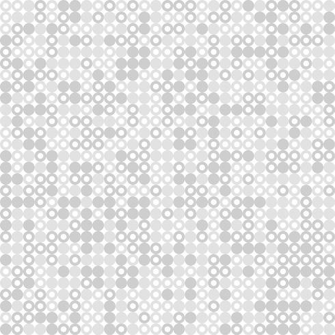 Fondo grigio e bianco astratto della decorazione di progettazione del modello del cerchio. illustrazione vettoriale eps10