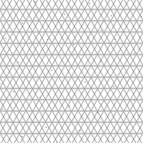 Decorazione geometrica della linea nera di progettazione quadrata astratta del modello geometrica su fondo bianco. illustrazione vettoriale eps10