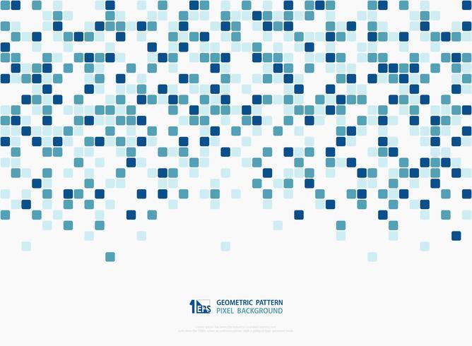 Progettazione quadrata del modello della copertura della decorazione del pixel di colori verdi blu astratti di tecnologia. illustrazione vettoriale eps10