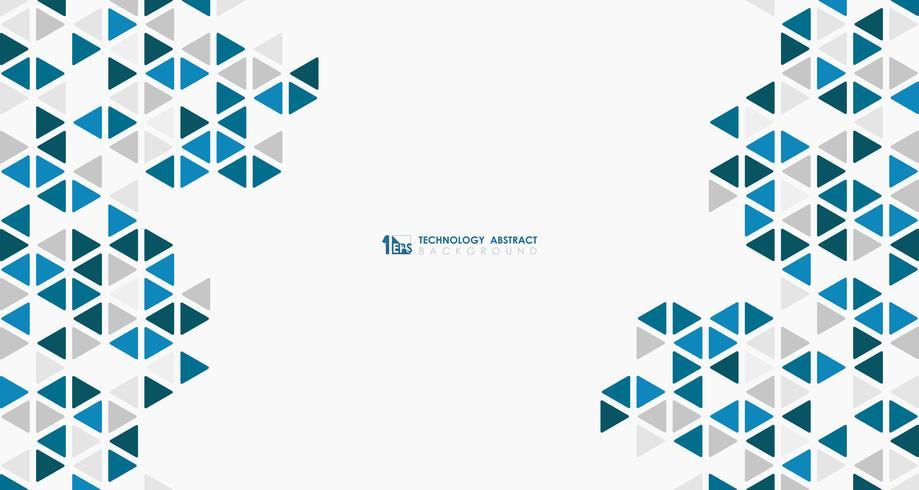 Astratto ampio cubo blu della tecnologia di progettazione geometrica modello esagonale basso. illustrazione vettoriale eps10