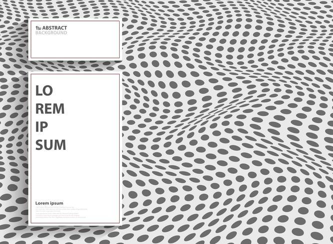Punto astratto moderno del disegno della copertura della maglia con lo spazio bianco della copia di testo. È possibile utilizzare per la progettazione di copertine, annunci, presentazioni, relazioni annuali. vettore