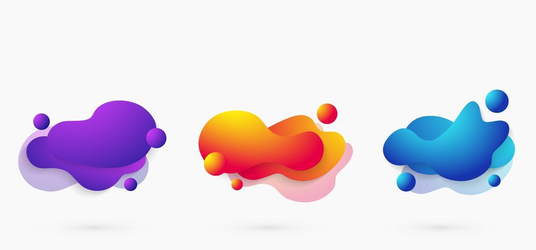 Forma geometrica astratta di colore vivido moderno gradiente di elementi. vettore
