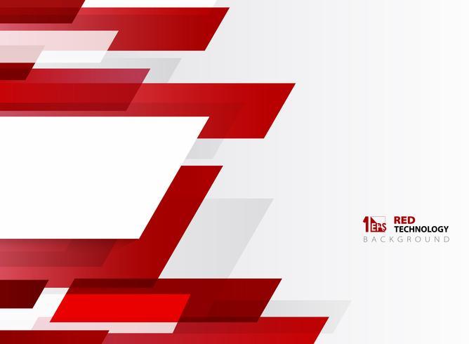 Modello astratto della linea rossa della banda di pendenza di tecnologia con fondo bianco. È possibile utilizzare per poster, brochure, opere d'arte moderna, relazione annuale. vettore