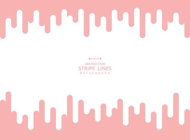 Fondo moderno astratto della linea vivente rosa della linea di colore di corallo banda modello geometrico. Utilizzando per poster, brochure, annunci, art design. vettore