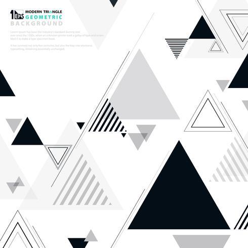 Bianco del nero di progettazione moderna del modello di forma geometrica astratta del fondo. vettore