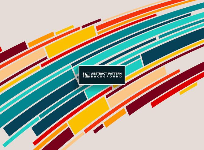 Disegno astratto colorato minimalista linea modello striscia. È possibile utilizzare per flyer, opuscolo, modello annuale, copertina. vettore