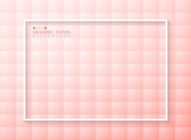 Estratto del fondo geometrico di progettazione di colore di corallo vivente rosa futuristico di pendenza. vettore