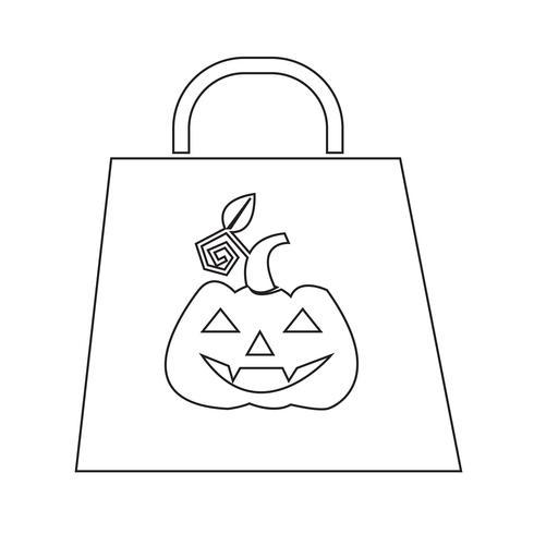 Icona della borsa di Halloween vettore