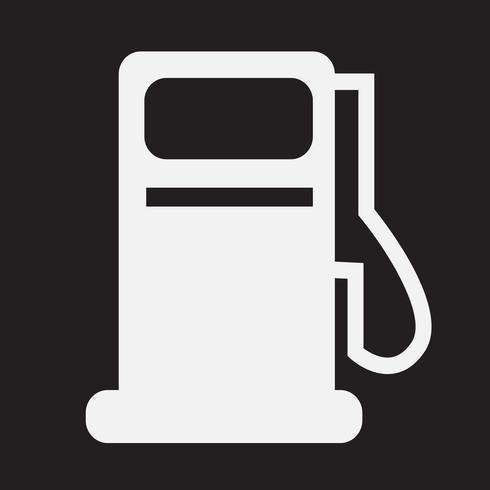 Icona della pompa di benzina, icona della stazione di servizio vettore